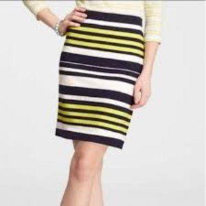 Ann Taylor Straight Striped Skirt, Size 6